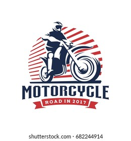 Motorcycle illustration logo template