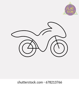 motorcycle line icon