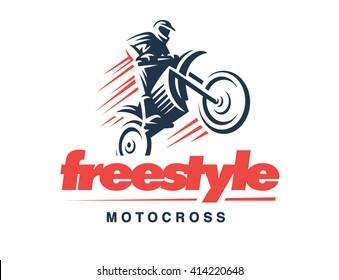 Motorcycle logo illustration, emblem