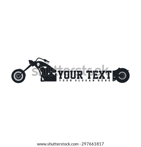 motorcycle logo template stock vector royalty free 297661817