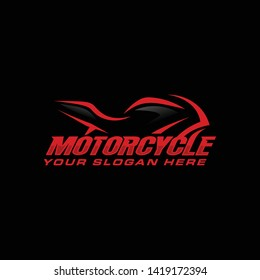 Motorcycle logo template vector illustration