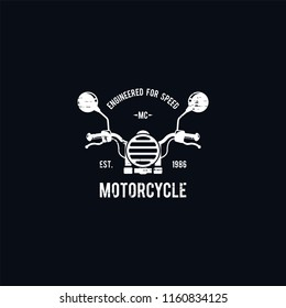 Motorcycle logo vector. Retro motorcycle logo template