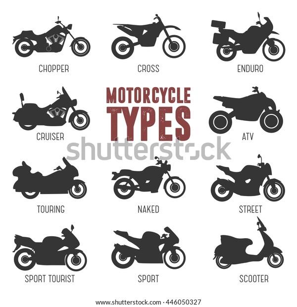 Image Vectorielle De Stock De Modele Et Type De Moto Les 446050327
