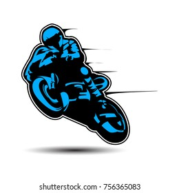 Motorcycle motor bike Logo design vector