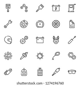 Motorcycle part icons pack. Isolated motorcycle part symbols collection. Graphic icons element
