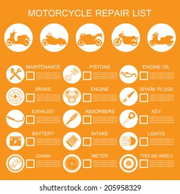motorcycle part information
