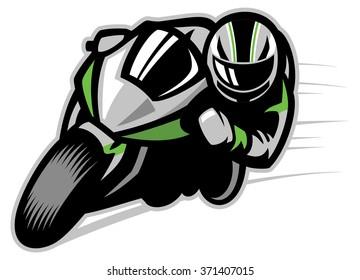 Motorcycle race cornering