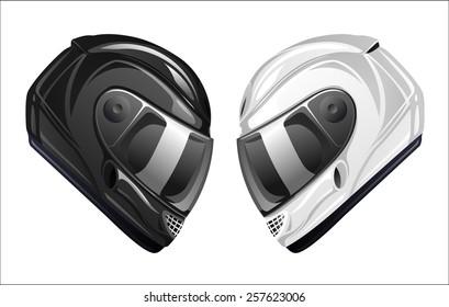 Motorcycle race helmets