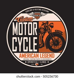 Motorcycle rider typography, t-shirt graphics, vectors