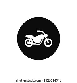 Motorcycle rounded icon