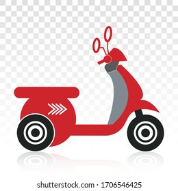 motorcycle scooter flat icons for classic motor community on a transparent background