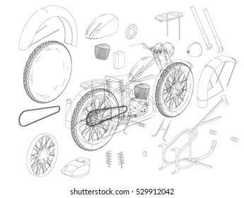 engine diagram stock vectors  images  u0026 vector art