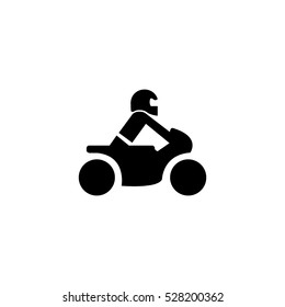 Motorcycle symbol on white background