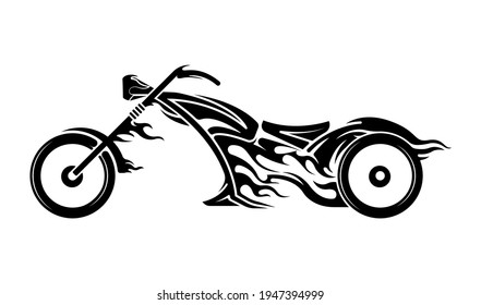 Motorcycle tribal logo template. vector template for design t-shirts, graphic, logo badge label service concept sports