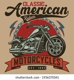 Motorcycle t-shirt design - Motorcycle vintage graphics