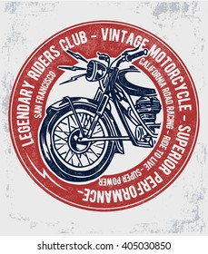 Motorcycle typography , t-shirt graphics, vectors.