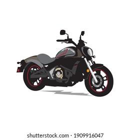 Motorcycle vector icon design illustration