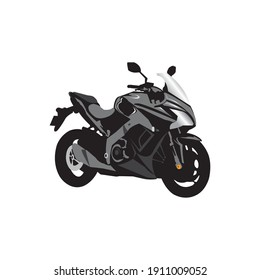 Motorcycle vector icon illustration rider colorful design