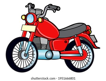 motorcycle vector illustration, isolated on white background.top view - Shutterstock ID 1951666801
