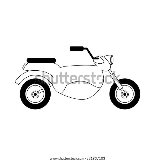 motorcycle vehicle icon