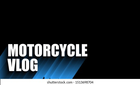 motorcycle vlog cover thumbnails vector
