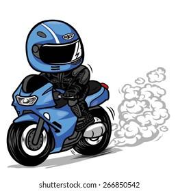 Motorcycle Wheel Burn Out