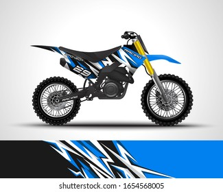 Motorcycle wrap decal and vinyl sticker design. Vector illustration.