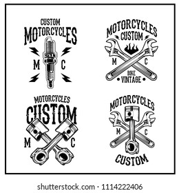 Imágenes, fotos de stock y vectores sobre Chopper Moto