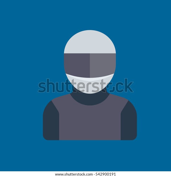 motorcyclist icon flat disign