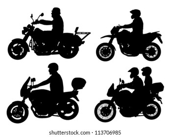 motorcyclist silhouettes