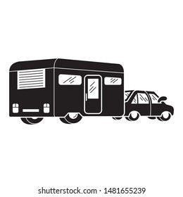 Motorhome icon. Simple illustration of motorhome vector icon for web design isolated on white background