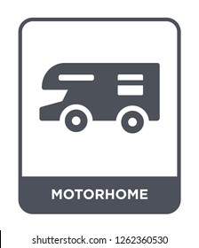 motorhome icon vector on white background, motorhome trendy filled icons from Travel collection, motorhome simple element illustration