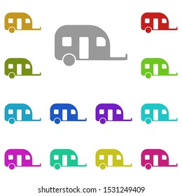 motorhome trailer multi color icon. Simple glyph, flat vector of universal icons for UI and UX, website or mobile application