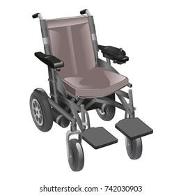 motorized wheelchair vector