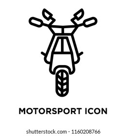 Motorsport icon vector isolated on white background, Motorsport transparent sign , linear symbol and stroke design elements in outline style