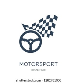 motorsport icon vector on white background, motorsport trendy filled icons from Transport collection, motorsport vector illustration