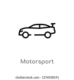 motorsport vector line icon. Simple element illustration. motorsport outline icon from transport concept. Can be used for web and mobile
