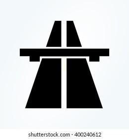 Motorway. Highway sign