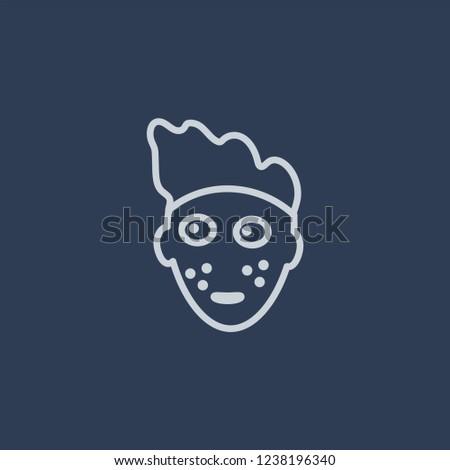 Mottled Skin Icon Trendy Flat Vector Stock Vector (Royalty