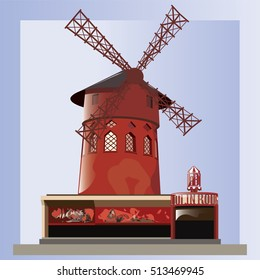 Moulin Rouge vector.