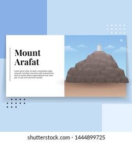 Mount Arafat Landscape Illustration Landing Page