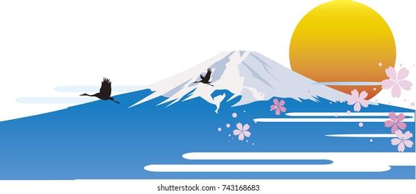 Mount Fuji of Sunrise