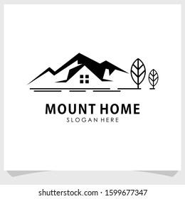 mount and home logo design vector, Mountain logo design inspiration