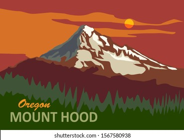 Mount Hood in Oregon, United States