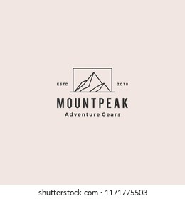 mount peak mountain logo hipster vintage retro vector icon illustration