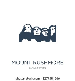 mount rushmore icon vector on white background, mount rushmore trendy filled icons from Monuments collection, mount rushmore vector illustration