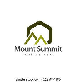 Mount Summit Logo Vector Template Design Illustration