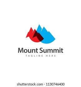 Mount Summit Vector Template Design Illustration