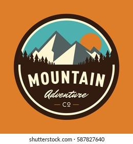 Mountain Adventure Circular Logo Badge