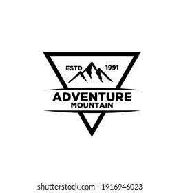 Mountain adventure outdoor badge logo icon design